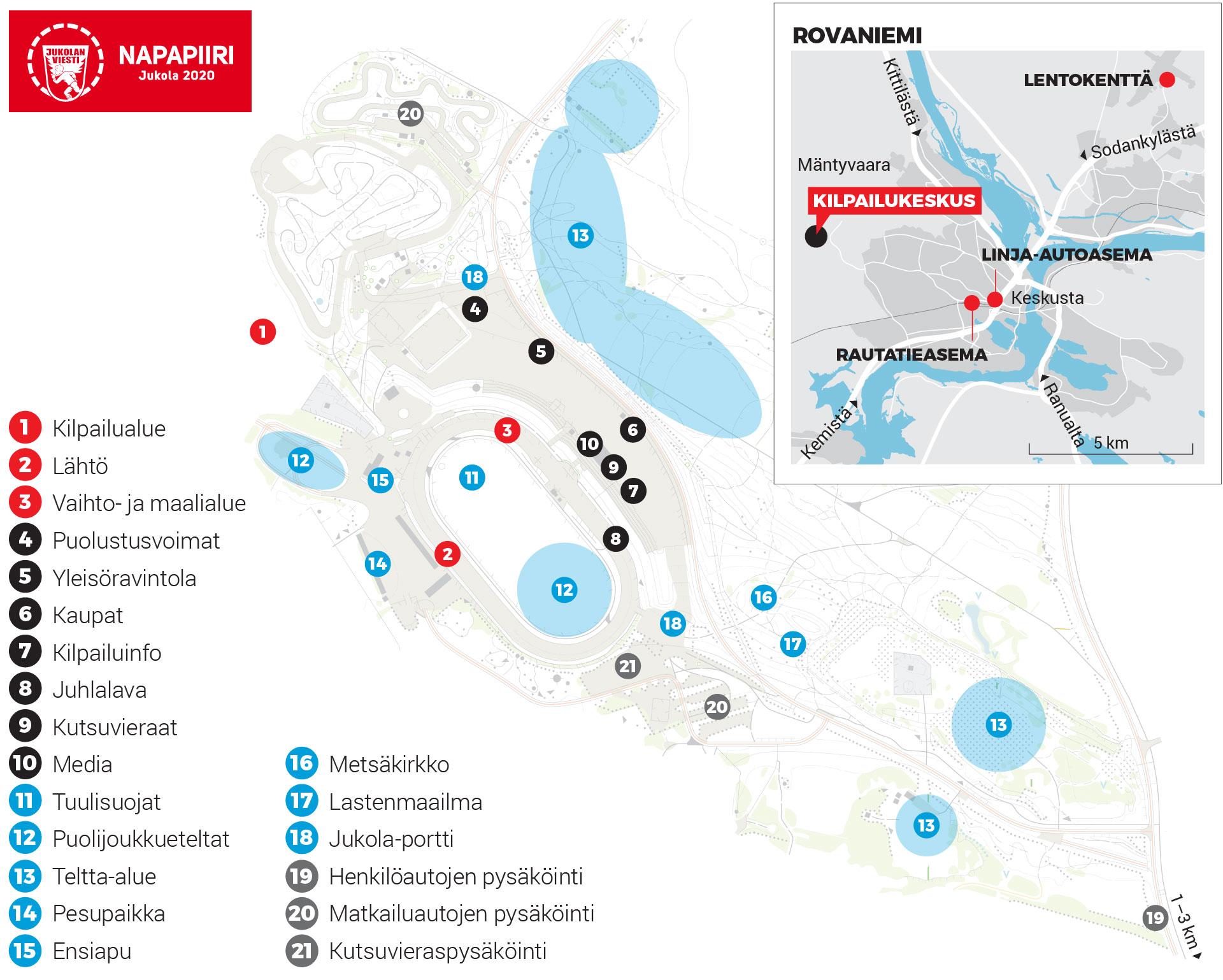 Kilpailukeskus Napapiiri Jukola 2020